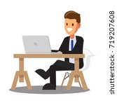 businessman character design... | Shutterstock .eps vector #719207608