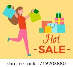 hot sale  picture representing... | Shutterstock .eps vector #719208880