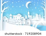 winter landscape represented by ... | Shutterstock .eps vector #719208904