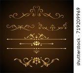 calligraphic design elements | Shutterstock .eps vector #719209969