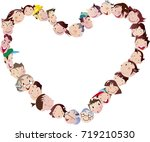 heart shaped person background | Shutterstock .eps vector #719210530