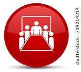 meeting room icon isolated on... | Shutterstock . vector #719214214