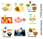 typical meals in japan | Shutterstock .eps vector #719216434