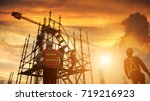 work safety function or civil... | Shutterstock . vector #719216923