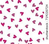 hand drawn heart seamless... | Shutterstock .eps vector #719220724