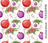 christmas clipart  handwork by... | Shutterstock . vector #719234998