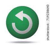 white undo web icon on green... | Shutterstock . vector #719238640