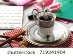 coffee in a composition with... | Shutterstock . vector #719241904