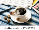 coffee in a composition with... | Shutterstock . vector #719241910