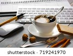 coffee in a composition with... | Shutterstock . vector #719241970