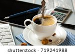 coffee in a composition with... | Shutterstock . vector #719241988