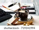 coffee in a composition with... | Shutterstock . vector #719241994