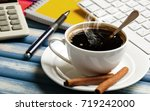 coffee in a composition with... | Shutterstock . vector #719242000