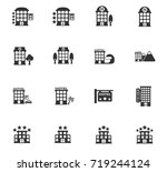 hotel icon set | Shutterstock .eps vector #719244124