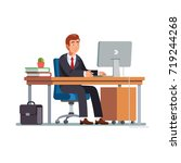 businessman or a clerk  in a...   Shutterstock .eps vector #719244268