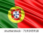 waving flag of portugal | Shutterstock . vector #719245918