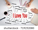 i love you concept. chart with... | Shutterstock . vector #719252080