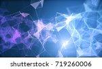 blue and purple plexus... | Shutterstock . vector #719260006