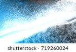 blue abstract 3d field...   Shutterstock . vector #719260024