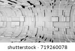 abstract metallic 3d tunnel....   Shutterstock . vector #719260078