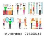 plumber store set on white... | Shutterstock . vector #719260168