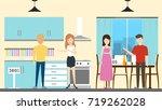 furniture store interior.... | Shutterstock . vector #719262028