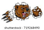 a bear angry animal sports... | Shutterstock .eps vector #719268490