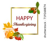happy thanksgiving card. | Shutterstock .eps vector #719268874