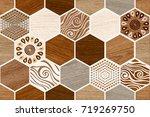 abstract home decorative art...   Shutterstock . vector #719269750