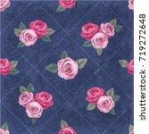 seamless floral vintage... | Shutterstock .eps vector #719272648