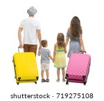 family with suitcases  isolated ... | Shutterstock . vector #719275108