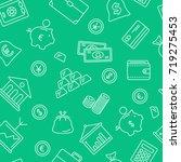 finance symbols seamless...   Shutterstock .eps vector #719275453