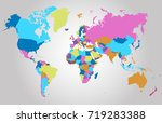 color world map | Shutterstock .eps vector #719283388