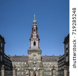 christiansborg palace in... | Shutterstock . vector #719285248