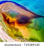 water pollution on river | Shutterstock . vector #719289130
