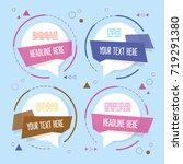 banner circle  | Shutterstock .eps vector #719291380