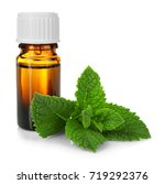 bottle of essential oil with... | Shutterstock . vector #719292376
