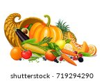 horn of plenty | Shutterstock .eps vector #719294290