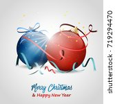 christmas and new year wishes.... | Shutterstock .eps vector #719294470