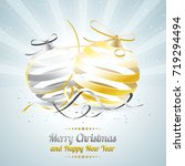 merry christmas and happy new... | Shutterstock .eps vector #719294494