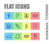 eating icons set. collection of ... | Shutterstock .eps vector #719296660