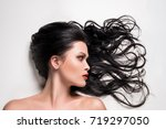 beautiful woman with beautiful... | Shutterstock . vector #719297050
