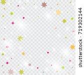 vector multicolored confetti on ... | Shutterstock .eps vector #719302144