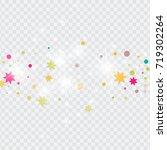vector multicolored confetti on ... | Shutterstock .eps vector #719302264