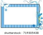 flower and butterfly card border   Shutterstock .eps vector #719305438