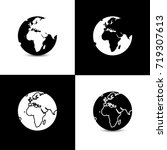 set of earth globe designs with ...   Shutterstock .eps vector #719307613