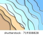 abstract sea and beach... | Shutterstock .eps vector #719308828
