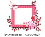 flowers with card border   Shutterstock .eps vector #719309524