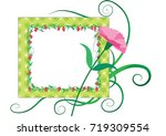 flowers with card border   Shutterstock .eps vector #719309554