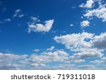 blue sky background with white... | Shutterstock . vector #719311018